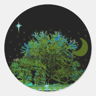 Tree Blues Classic Round Sticker