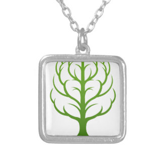 Tree Brain Concept Silver Plated Necklace