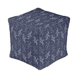 Tree Branch Pattern | Cube Pillow