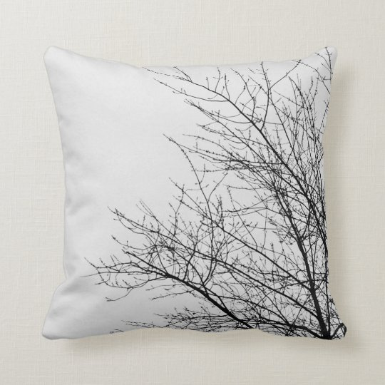 Tree branch silhouette pillow