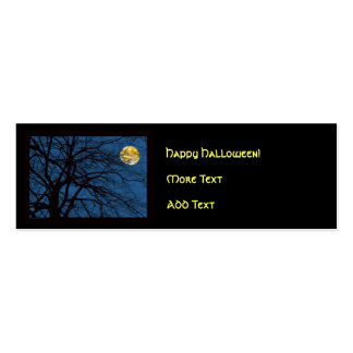 Tree Branches Full Moon Pack Of Skinny Business Cards