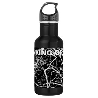 Tree branches on black background 532 ml water bottle