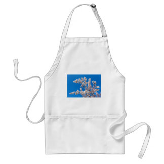 Tree branches with blooming white flowers standard apron