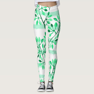 Tree branches with leaves leggings