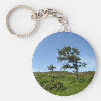Tree Breeze Basic Round Button Keychain