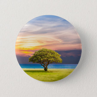 Tree by the Ocean 2 Inch Round Button