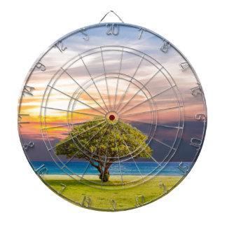 Tree by the Ocean Dartboard