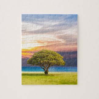 Tree by the Ocean Jigsaw Puzzle