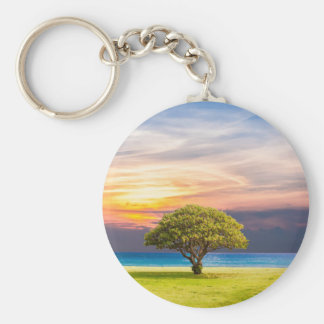 Tree by the Ocean Keychain