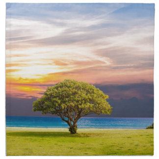 Tree by the Ocean Napkin