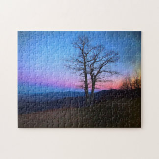 Tree By the Overlook Jigsaw Puzzle