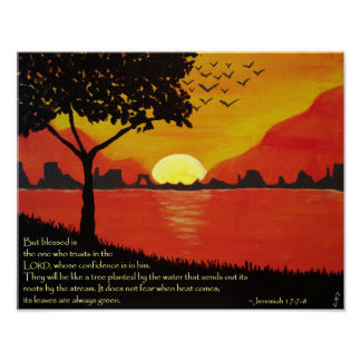 Tree by the Water Poster