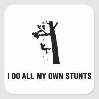 Tree Climbing Square Sticker