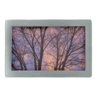 Tree Colors Of The Night Rectangular Belt Buckles