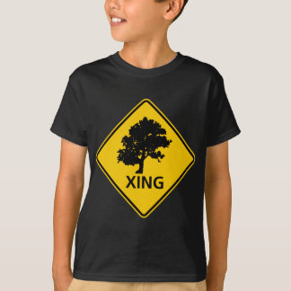 Tree Crossing Highway Sign T-Shirt