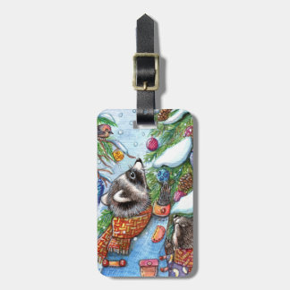 Tree Decorating Luggage Tag