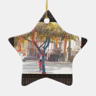 Tree Decorations India arts crafts festival delhi Ceramic Star Ornament