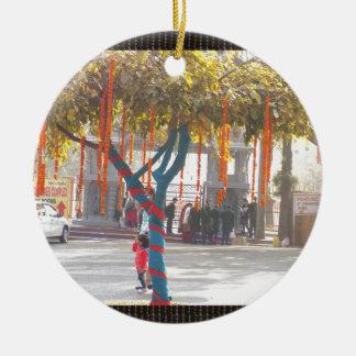 Tree Decorations Suraj Kund Nature Festival india Round Ceramic Ornament