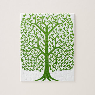 Tree Faces Concept Jigsaw Puzzle