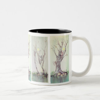 TREE FAEIRIES by SHARON SHARPE Two-Tone Coffee Mug