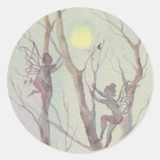 TREE FAERIES by SHARON SHARPE Classic Round Sticker