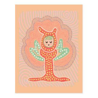 Tree Fairy Dreamland Dot Painting Postcard