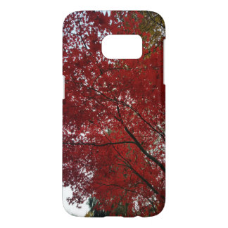 Tree Fall Season Red Brown Autumn Leaves Samsung Galaxy S7 Case