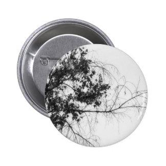 Tree Fingers (B&W) 2 Inch Round Button