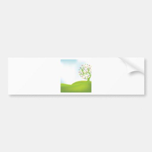 Tree ~ Flower Flowering Tree Green Landscape Bumper Stickers