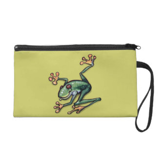 Tree Frog Wristlet Clutches