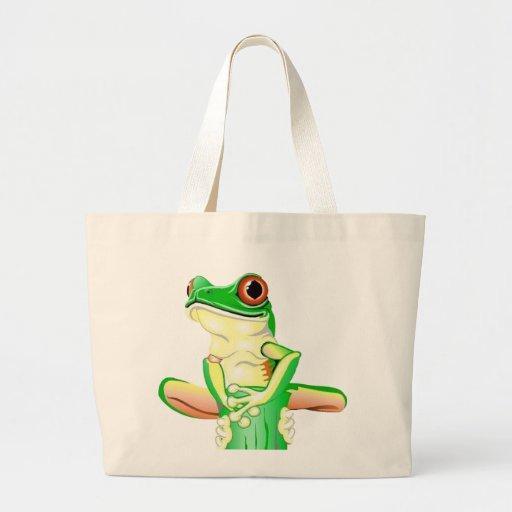 Tree Frog Tote Bags