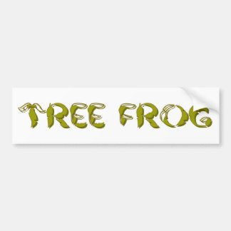 Tree Frog Bumper Sticker