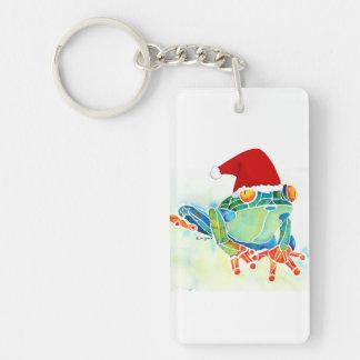 Tree Frog Christmas Gifts Single-Sided Rectangular Acrylic Keychain