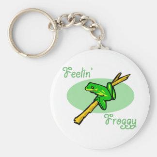 Tree Frog Design Basic Round Button Keychain