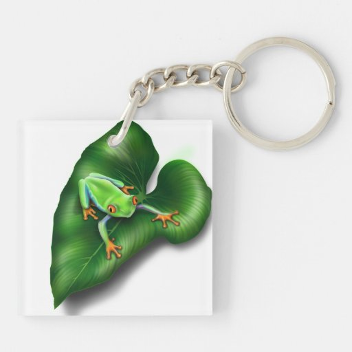 Tree Frog Double-Sided Keychain