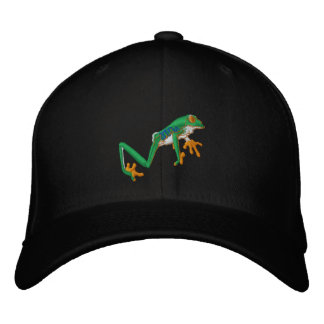 Tree Frog Embroidered Cap-Can Add Text Embroidered Hat