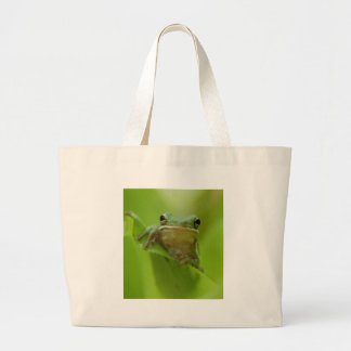 Tree Frog Green Customize jump Canvas Bags