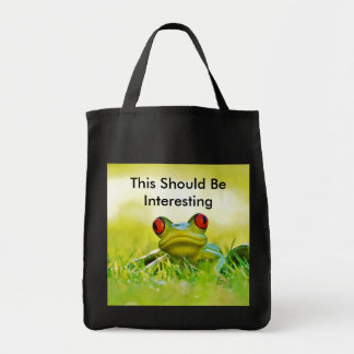 Tree Frog Grocery Tote Bag For Shopping