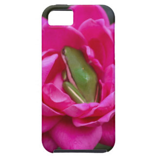 Tree Frog Hiding In Rose iPhone 5 Cover