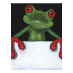 TREE FROG HOLDING SIGN: YOU PICK WORDING FULL COLOUR FLYER