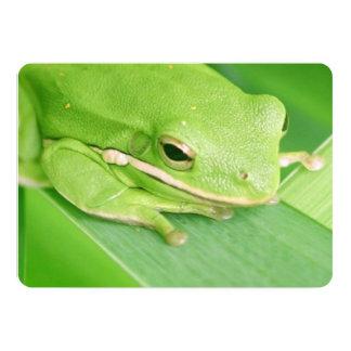 "Tree Frog 5"" X 7"" Invitation Card"