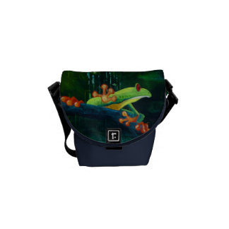 Tree Frog Jungle Rains Courier Bag