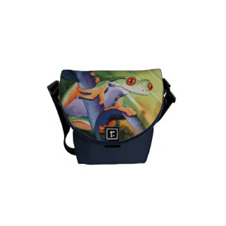 Tree Frog Life Out Loud Watercolor Messenger Bag