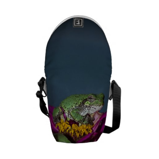 Tree frog lounging messenger bags