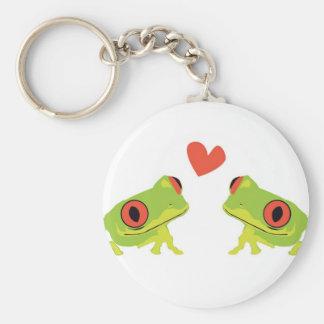 Tree Frog Love Keychains