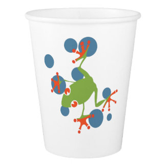 Tree Frog Paper Cup