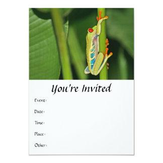 """Tree Frog Photo 5"""" X 7"""" Invitation Card"""