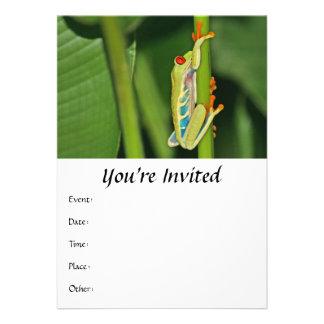 Tree Frog Photo Invite