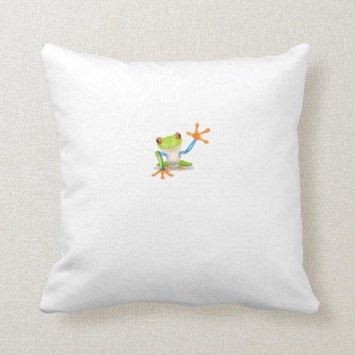 Tree Frog Throw Pillows