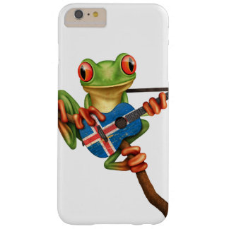 Tree Frog Playing Icelandic Flag Guitar White Barely There iPhone 6 Plus Case